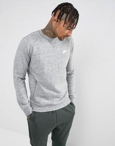 Серый свитшот с круглым вырезом Nike Legacy 805055-092 - Серый