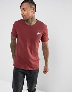 Красная футболка с логотипом Nike Club 827021-619 - Красный