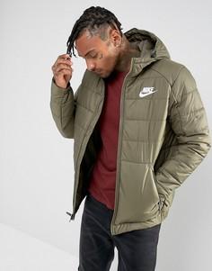 Зеленая куртка с капюшоном Nike 861786-222 - Зеленый