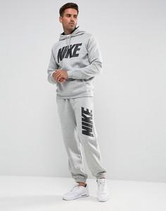 Серый флисовый спортивный костюм Nike JDI 861768-063 - Серый
