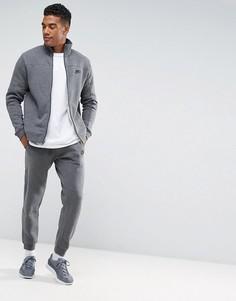 Серый флисовый спортивный костюм Nike 861776-071 - Серый