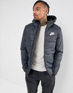 Черная куртка с капюшоном Nike 861786-010 - Черный