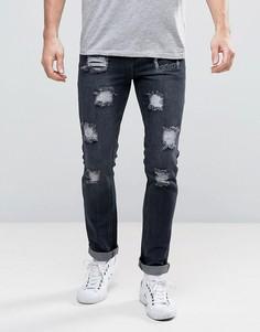 Состаренные джинсы скинни Dead Vintage - Черный