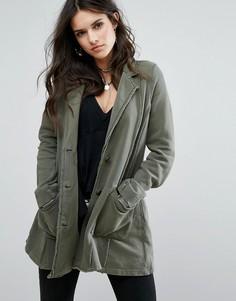 Легкая куртка-макинтош в непринужденном стиле Free People - Зеленый