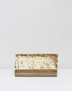 Клатч с декоративной отделкой Park Lane - Золотой
