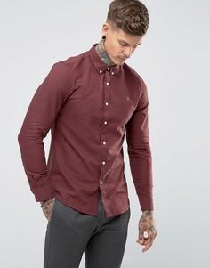 Красная приталенная оксфордская рубашка Farah Brewer - Красный