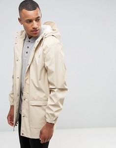 Водонепроницаемая куртка средней длины с капюшоном D-Struct - Бежевый