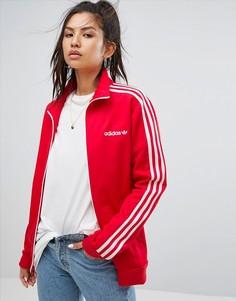 Красная спортивная куртка adidas Originals - Красный