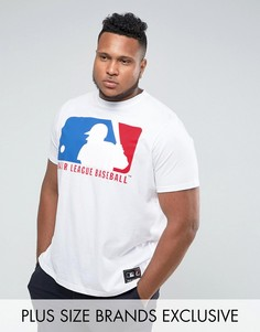 Белая футболка с принтом Majestic PLUS MLB - Белый