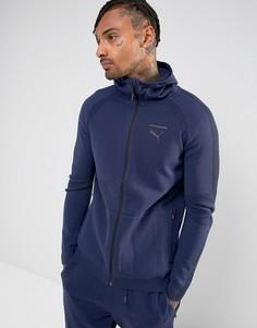 Худи темно-синего цвета с молнией Puma EvoKnit 57336706 - Темно-синий