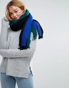 Мягкий шарф с длинными кисточками ASOS - Черный
