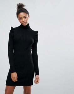 Платье-джемпер с высоким воротом Vila - Черный