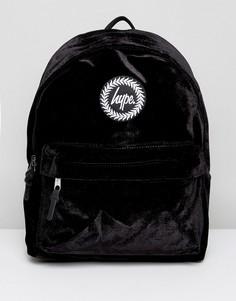 Черный велюровый рюкзак Hype - Черный