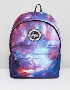 Темно-синий рюкзак с космическим принтом Hype - Синий
