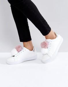 Кроссовки с помпонами Truffle Collection - Белый