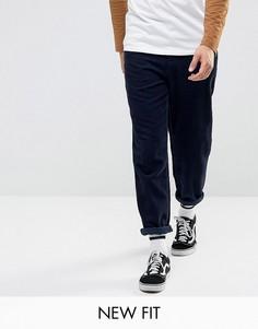 Темно-синие вельветовые брюки ASOS - Темно-синий