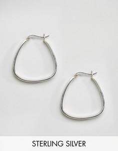 Серебряные серьги-кольца треугольной формы Kingsley Ryan - Серебряный