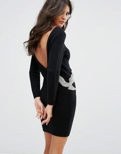 Платье-джемпер с отделкой в виде птицы BA&SH - Черный Ba&Sh