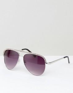 Солнцезащитные очки-авиаторы AJ Morgan - Серебряный