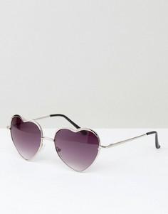 Солнцезащитные очки в форме сердец AJ Morgan - Серебряный