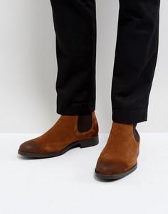 Светло-коричневые замшевые ботинки челси Selected Homme Oliver - Рыжий