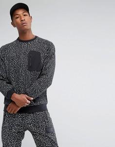 Черный свитшот с круглым вырезом и карманом adidas Originals NMD BS2494 - Черный