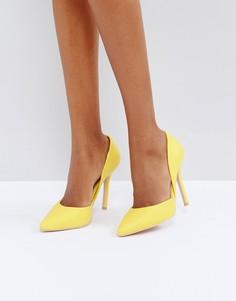Желтые туфли-лодочки с вырезами Glamorous - Желтый
