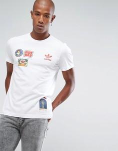 Белая футболка adidas Originals Seoul BQ7573 - Белый