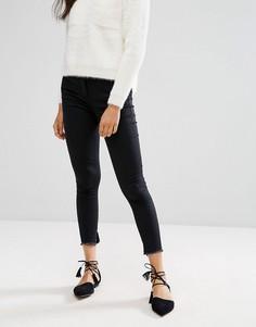 Укороченные джинсы с необработанными краями Parisian - Черный