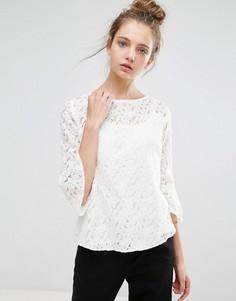 Кружевная блузка b.Young - Белый