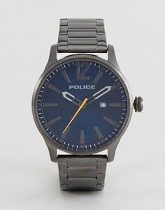 Черные часы из нержавеющей стали Police Dallas - Черный