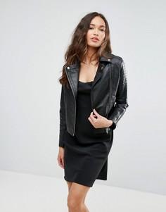 Кожаная куртка Barneys Originals - Черный