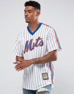 Белый трикотажный бейсбольный топ Majestic MLB New York Mets - Белый