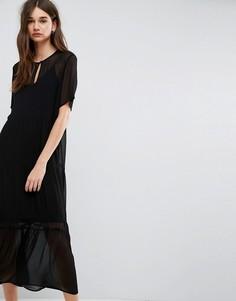 Кружевное платье макси Gestuz Ayo - Черный