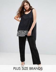 Плиссированные брюки-палаццо Koko - Черный
