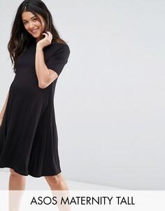 Свободное платье для беременных ASOS Maternity TALL - Черный