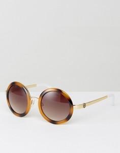 Солнцезащитные очки в круглой оправе Kurt Geiger - Коричневый