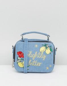 Джинсовая сумка через плечо с вышивкой Slightly Bitter Skinnydip - Синий