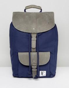 Темно-синий кожаный рюкзак Forbes & Lewis Lincoln - Серый