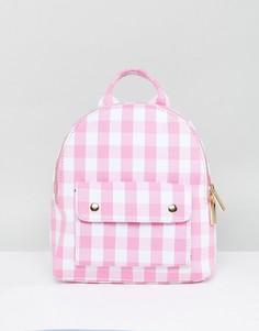 Мини-рюкзак в розовую клетку Skinnydip - Розовый