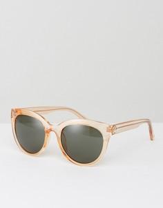 Круглые солнцезащитные очки Kurt Geiger - Кремовый