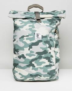 Рюкзак с подворачивающимся верхним клапаном и камуфляжным принтом Forbes & Lewis Rollie - Зеленый