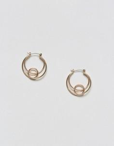 Серьги-кольца Pieces - Золотой