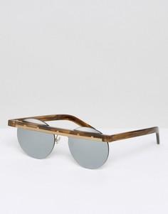 Круглые солнцезащитные очки Han Kjobenhavn - Коричневый
