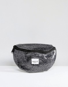 Блестящая сумка-кошелек на пояс Spiral - Черный
