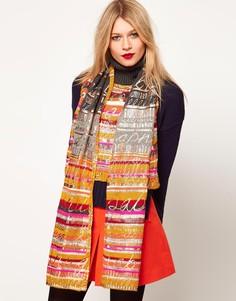 Топ и шарф с надписями Lauren McCalmont For Asos - Мульти