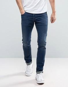 Темные зауженные джинсы Diesel Sleenker 0854E - Темно-синий