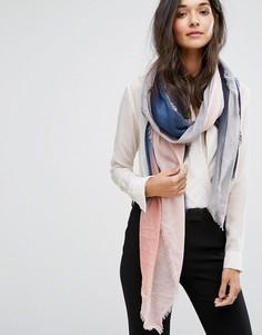 Розовый шарф с эффектом омбре Pieces Siw - Розовый