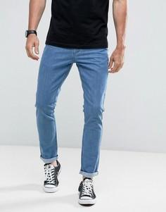 Укороченные узкие джинсы в винтажном стиле с подвернутыми краями Hoxton Denim - Синий