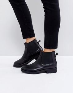 Черные кожаные ботинки челси Hudson London Carter - Черный